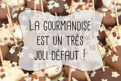 Messaggio gourmet di lecca-lecca al cioccolato