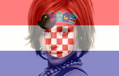 Hırvatistan bayrağı kişiselleştirilebilir Hırvatistan