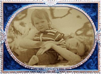 Cornice gioiello blu Vecchia foto