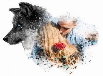 El cuadro artístico de la cabeza de perro
