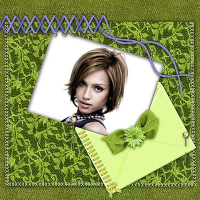 Scrapbooking Green lace