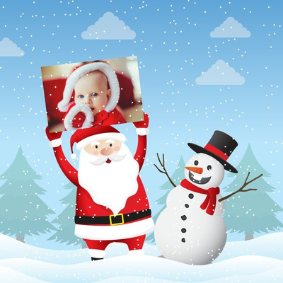 Santa y muñeco de nieve