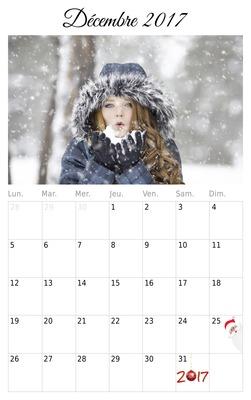 Kalendar prosinac 2016 Printer-friendly