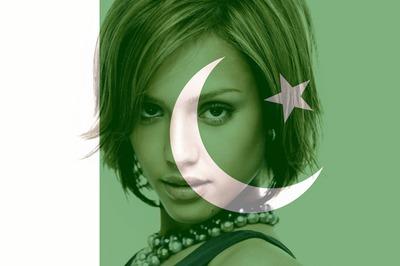 Mukautettava Pakistanin / Pakistanin lippu