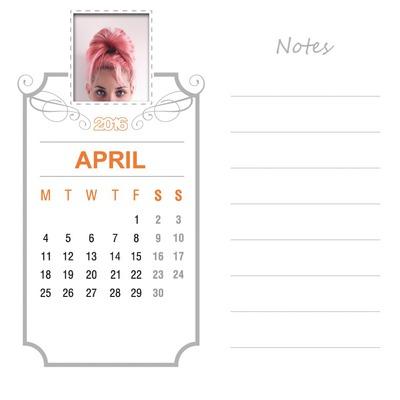 April 2016 Kalender