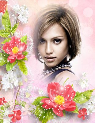 Rosa Blüten Valentine