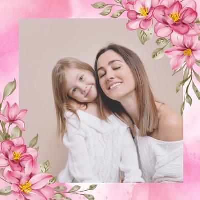 Bunga-bunga merah muda