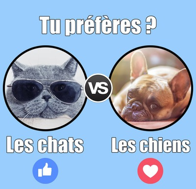Facebook kyselyn vastaus hymiö Versus Vs.