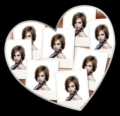 Coração ♥ Polaroides 8 fotos