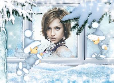Niños Elfos Invierno Nieve Navidad