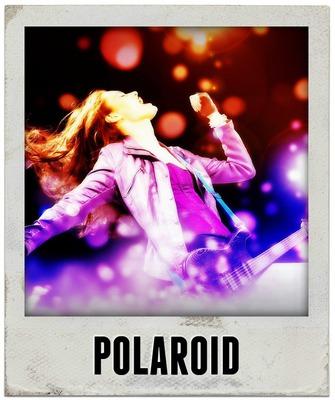Polaroid com texto