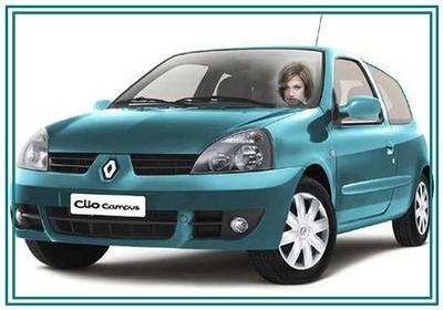 Face Clio Car driver