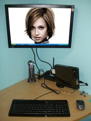 PC pantalla plana Escena