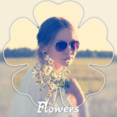 Fleur fond flou