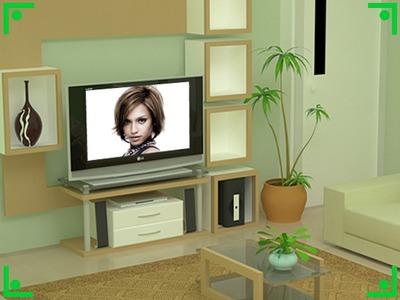 LG LCD plakanā ekrāna viesistabas skatuve