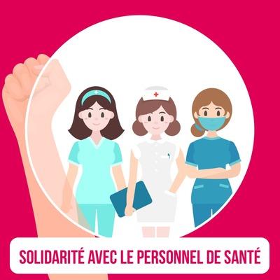 Solidarité avec le personnel de santé