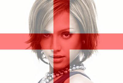 Mukautettava englantilainen Englannin lippu