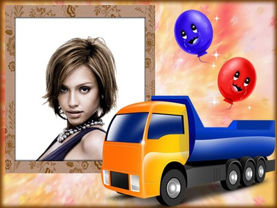 Cadre enfants Camion