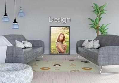 modern interiör ram på Bild