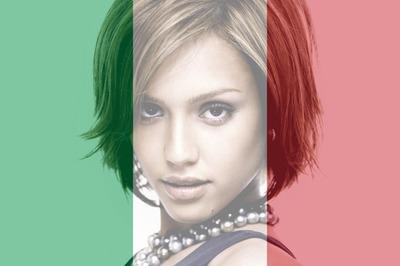 Konfigurowalna włoska flaga Włoch