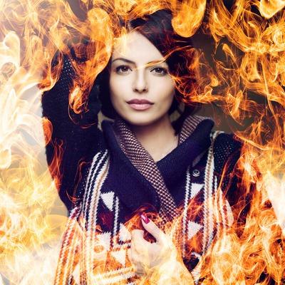 Photo derrière les flammes