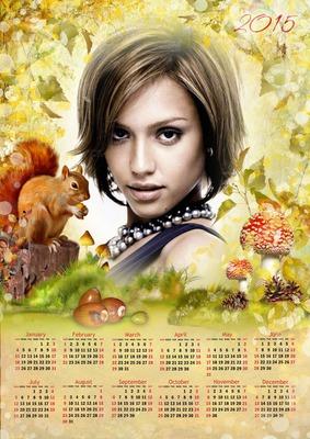 Kalendarz 2015 w języku angielskim