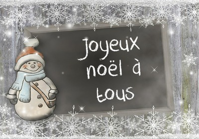 Молив върху шисти Коледен снежен човек