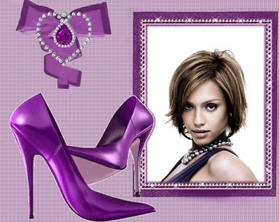 Ювелирные изделия фиолетовые туфли
