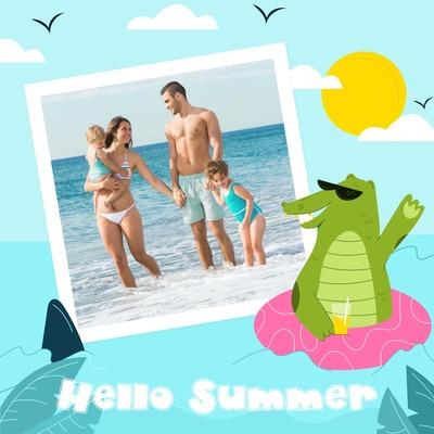 Krokodíl na dovolenke