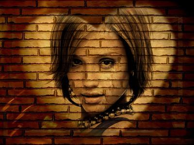 Herz auf Mauer