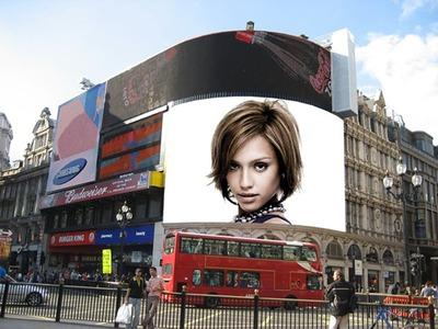 Reklám plakát jelenet épület