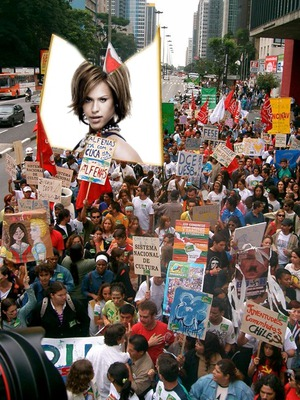 Scène Pancarte de manifestation Grève