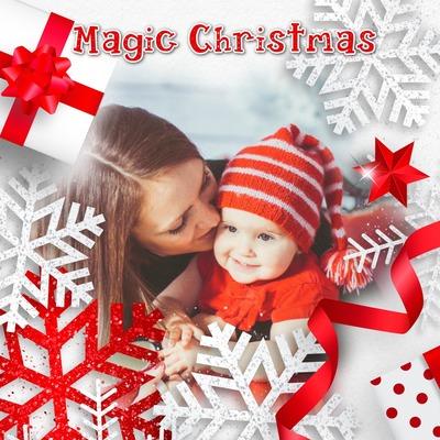 Navidad roja y blanca