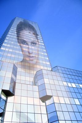 Refleksjon i en bygning