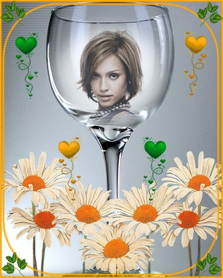 Fase di cuori di fiori di vetro