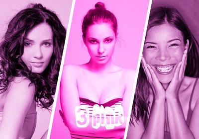 3 ροζ