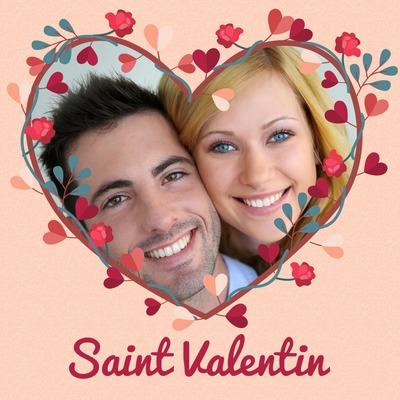 cuore floreale per San Valentino