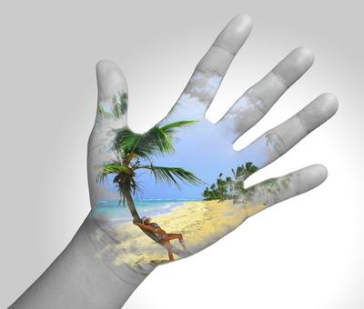 Svart og hvit hånd