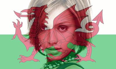 Drapeau Pays de Galles Gallois personnalisable