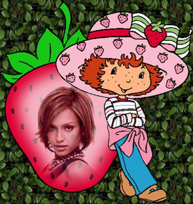 Marco infantil Charlotte con fresas