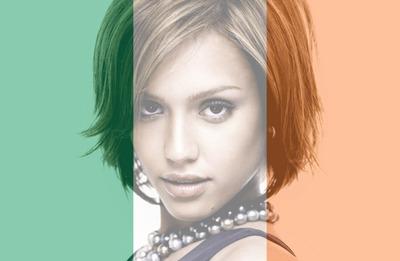 Mukautettava Irlannin Irlannin lippu