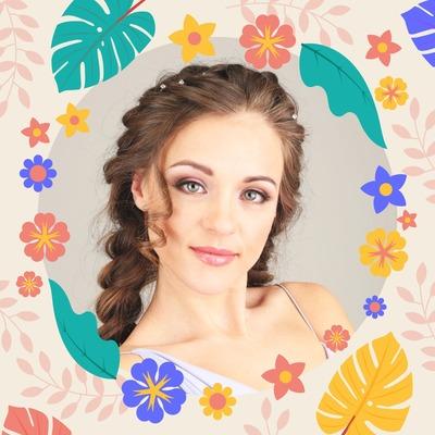 Gambar profil berbunga-bunga
