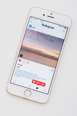 Smartphone na may Instagram