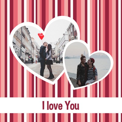 バレンタインデーのための2つの心