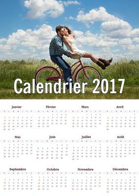 Calendrier 2017 facile à imprimer avec photo personnalisable