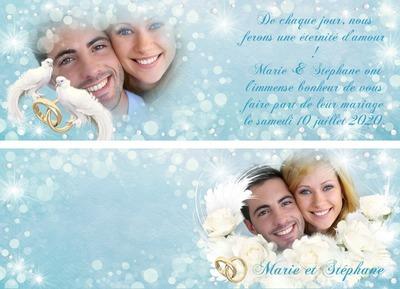 Invitation Faire-part Naissance Mariage