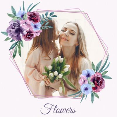 Buketter med blomster