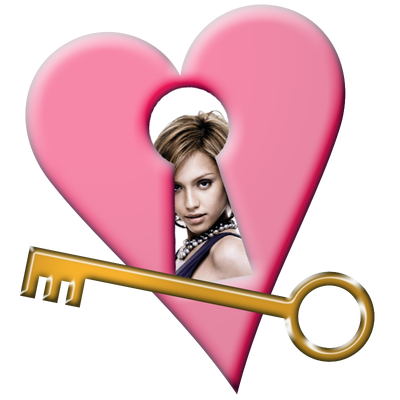 The key of the heart Lock