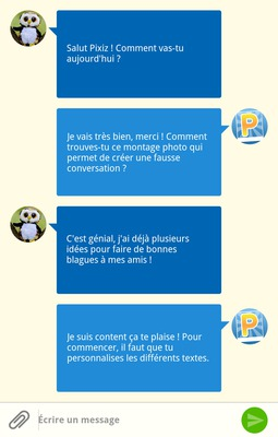 SMS chat on a Smartphone