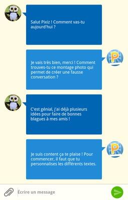 Conversation téléphone Message SMS